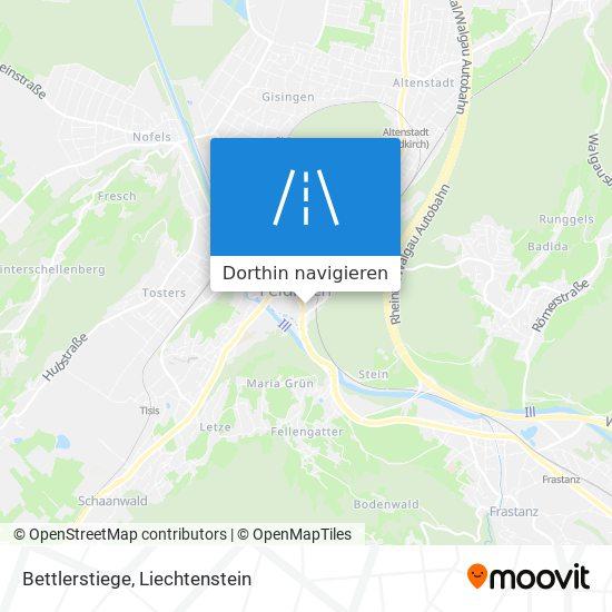 Bettlerstiege Karte
