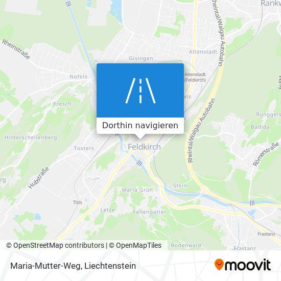 Maria-Mutter-Weg Karte
