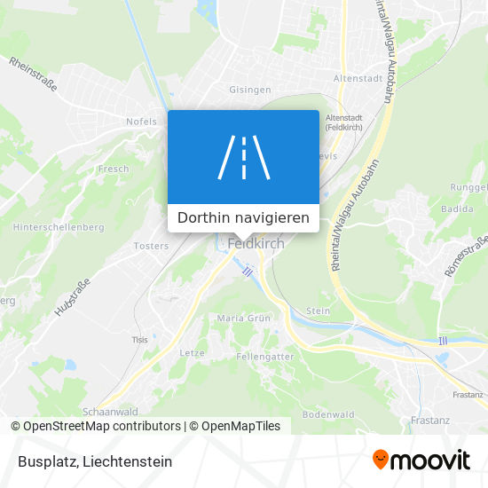 Busplatz Karte