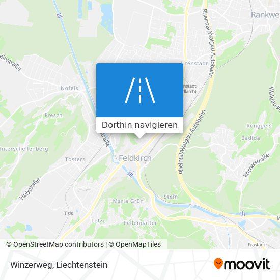 Winzerweg Karte