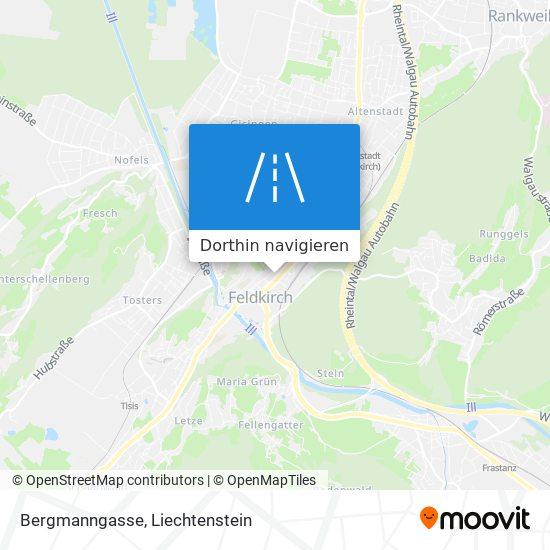 Bergmanngasse Karte