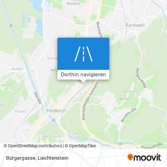 Bürgergasse Karte