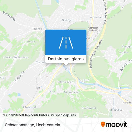 Ochsenpassage Karte
