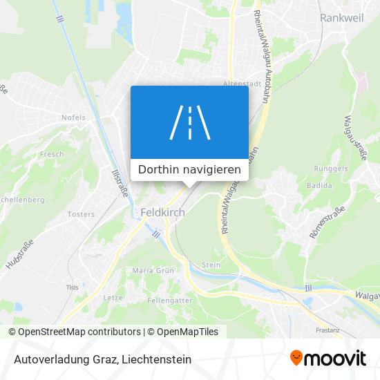 Autoverladung Graz Karte
