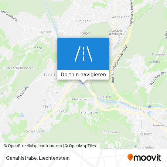 Ganahlstraße Karte