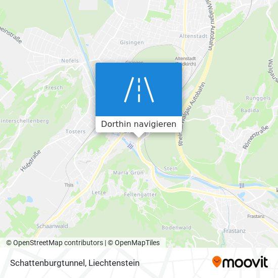 Schattenburgtunnel Karte