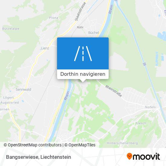 Bangserwiese Karte