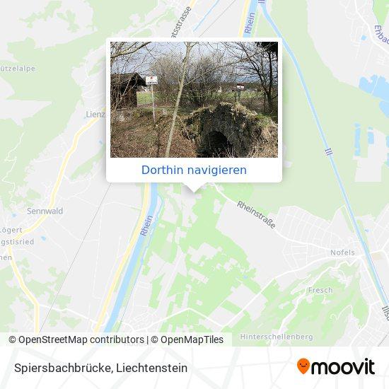 Spiersbachbrücke Karte