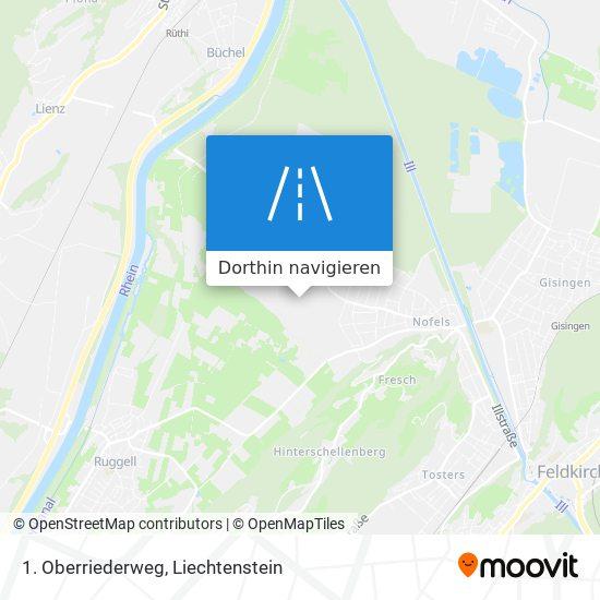 1. Oberriederweg Karte