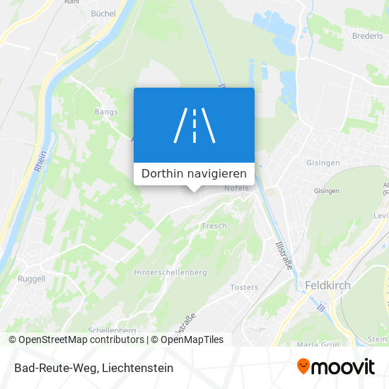 Bad-Reute-Weg Karte
