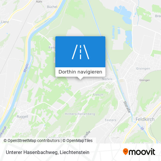 Unterer Hasenbachweg Karte