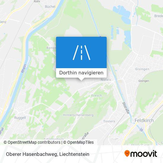 Oberer Hasenbachweg Karte