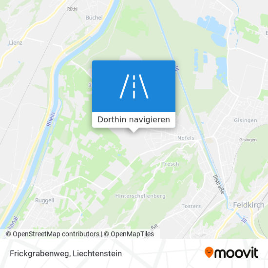 Frickgrabenweg Karte