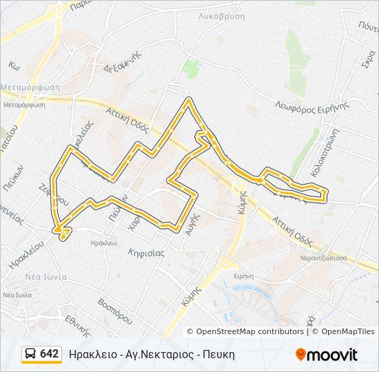 Linea 642 Orari Fermate E Mappe Hrakleio Ag Nektarios Peykh