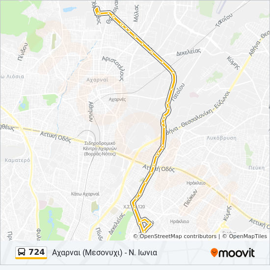 724 Route Time Schedules Stops Maps Axarnai Mesonyxi N