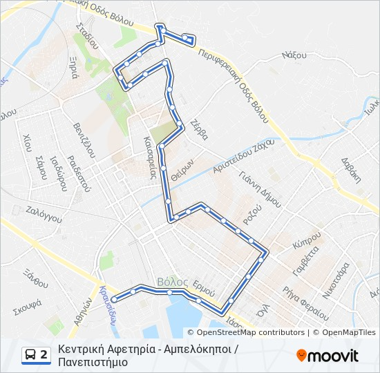 2 Route Time Schedules Stops Maps Ampelokhpoi Panepisthmio