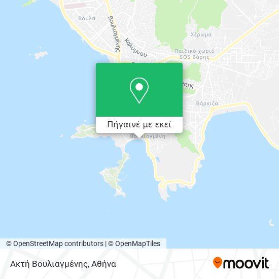 Ακτή Βουλιαγμένης χάρτης