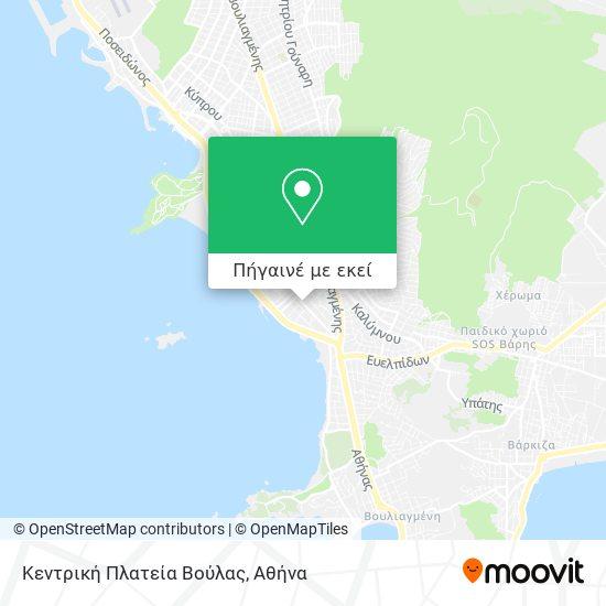 Κεντρική Πλατεία Βούλας χάρτης