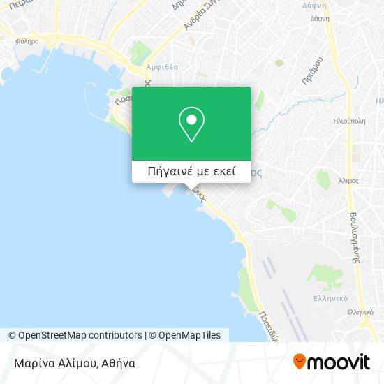 Μαρίνα Αλίμου χάρτης