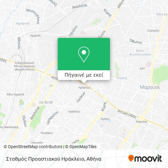 Σταθμός Προαστιακού Ηράκλειο χάρτης