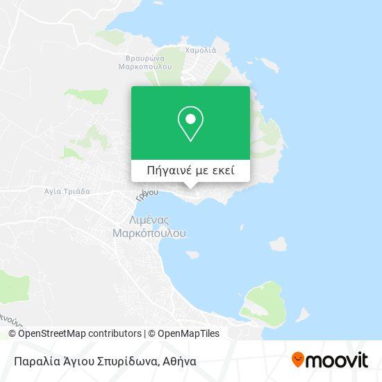 Παραλία Άγιου Σπυρίδωνα χάρτης