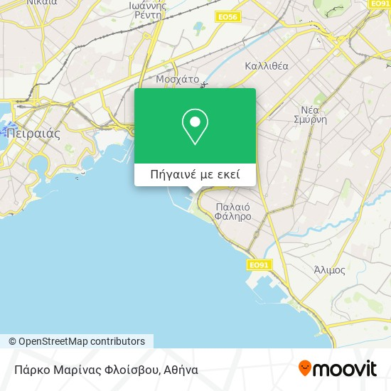 Πάρκο Μαρίνας Φλοίσβου χάρτης