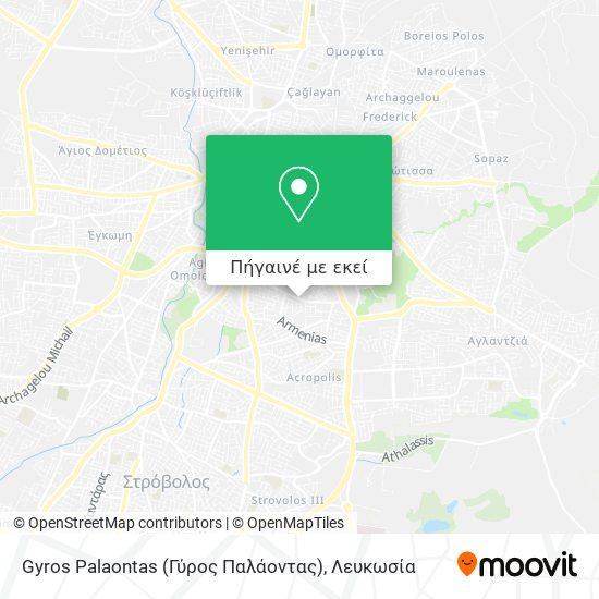 Gyros Palaontas (Γύρος Παλάοντας) χάρτης