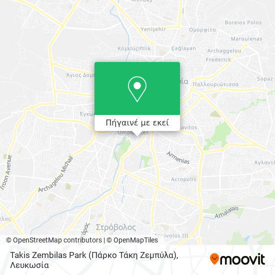 Takis Zembilas Park (Πάρκο Τάκη Ζεμπύλα) χάρτης