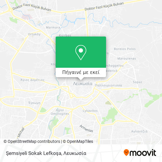 Şemsiyeli Sokak Lefkoşa χάρτης
