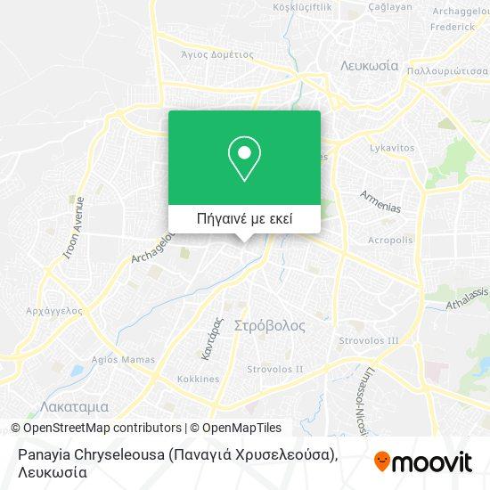 Panayia Chryseleousa (Παναγιά Χρυσελεούσα) χάρτης