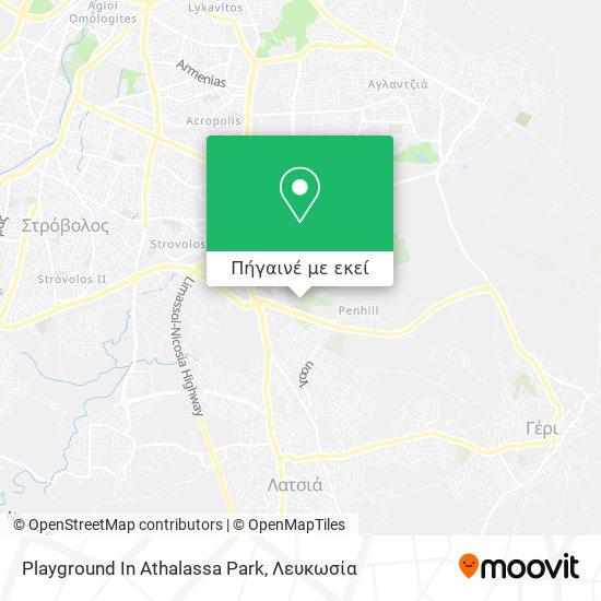 Playground In Athalassa Park χάρτης