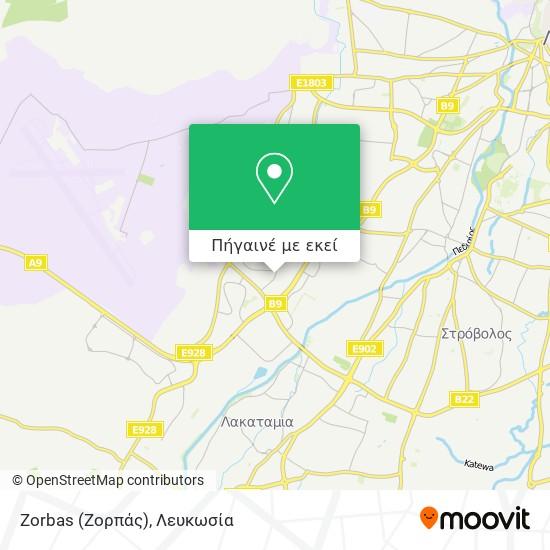 Zorbas (Ζορπάς) χάρτης