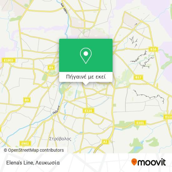 Elena's Line χάρτης