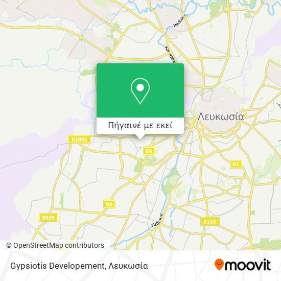 Gypsiotis Developement χάρτης