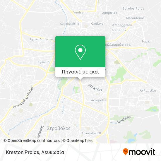 Kreston Proios χάρτης