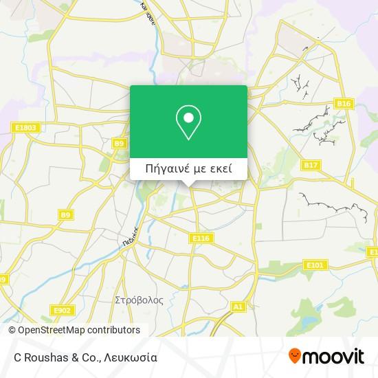 C Roushas & Co. χάρτης