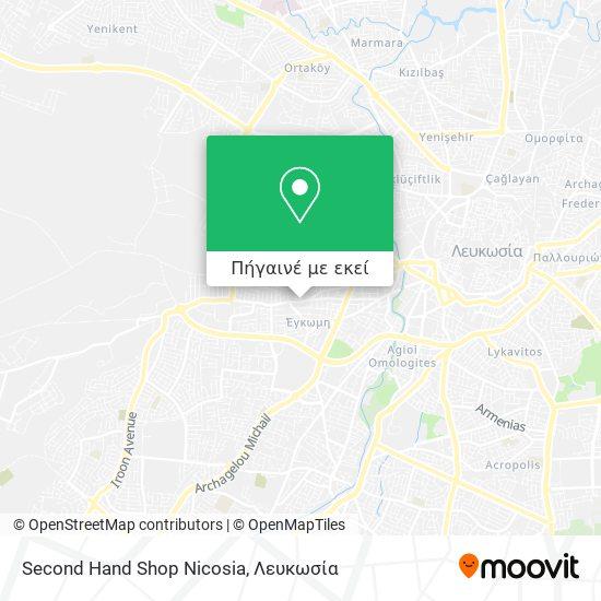 Second Hand Shop Nicosia χάρτης