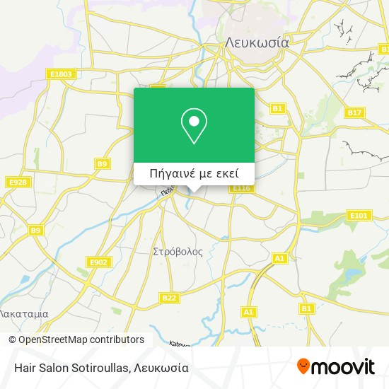 Hair Salon Sotiroullas χάρτης