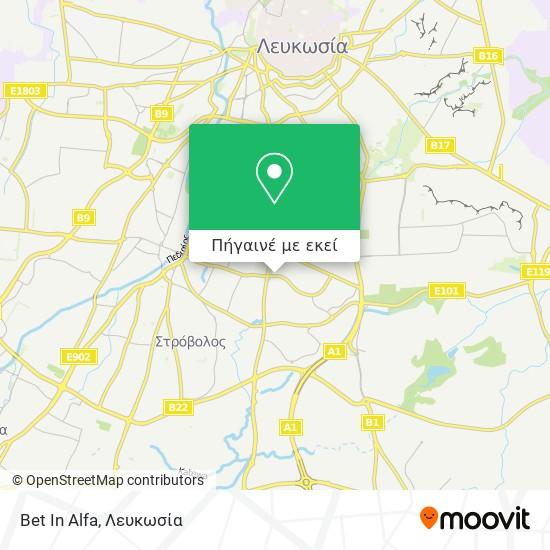 Bet In Alfa χάρτης