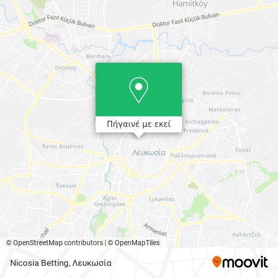 N Cosia Betting χάρτης