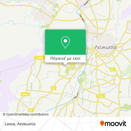 Lexus χάρτης