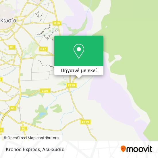 Kronos Express χάρτης