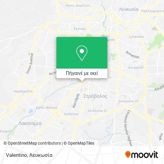 Valentino χάρτης