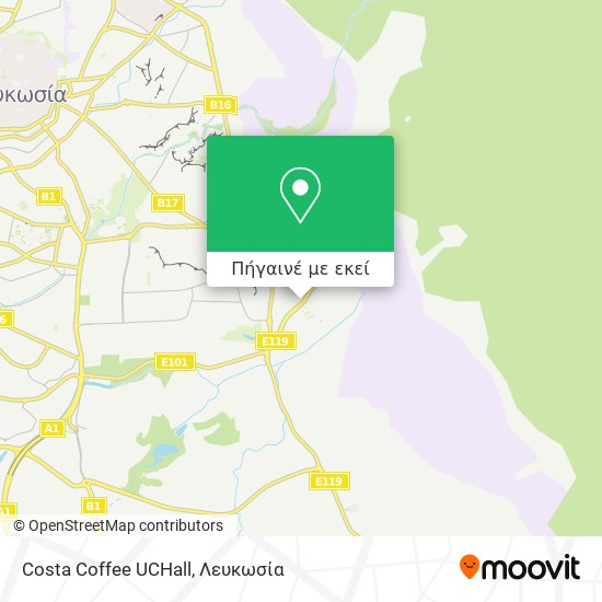 Costa Coffee UCHall χάρτης