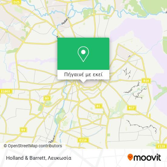 Holland & Barrett χάρτης