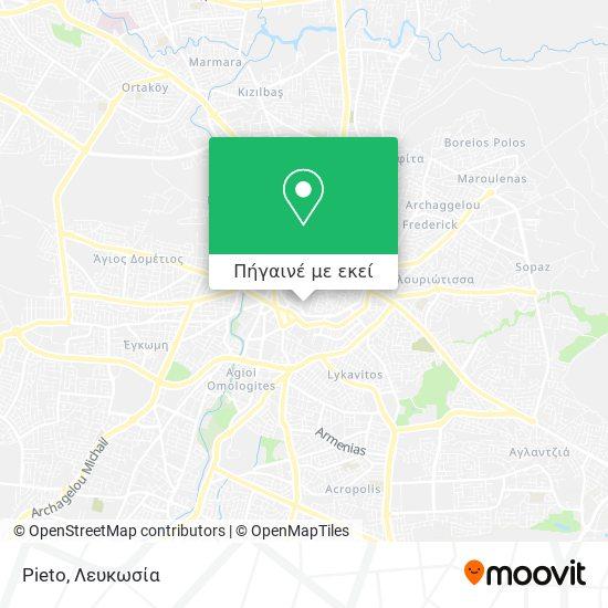 Pieto χάρτης