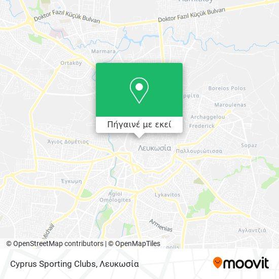 Cyprus Sporting Clubs χάρτης