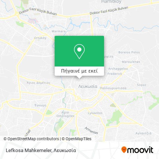 Lefkosa Mahkemeler χάρτης