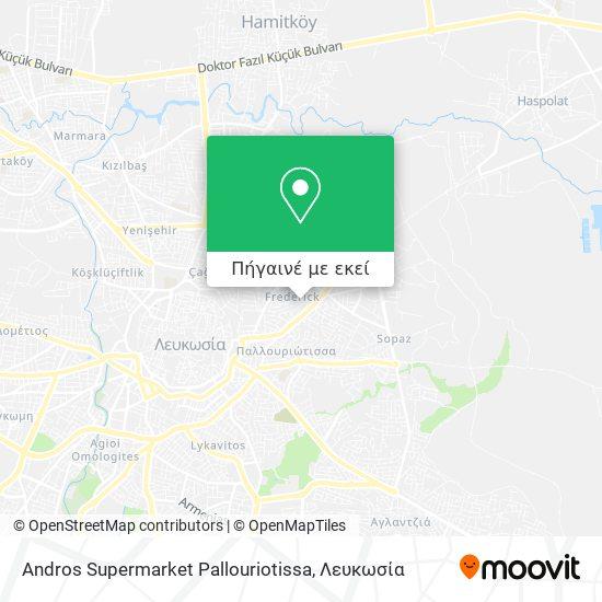 Andros Supermarket Pallouriotissa χάρτης