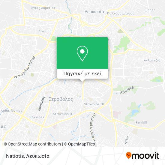 Natiotis χάρτης